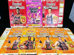 KELLOGG'S 1992 USA Olympics Basketball Dream Team Cereal Boxes NBA Larry Bird