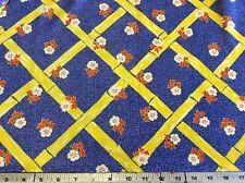 Bamboo & Denim Floral Poly-Knit-62 Inches Wide- 7/8 Yard