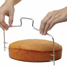 Cake Bread Cutting Slicer Cutting Cake Decorating Tool +2 Steel Cutter Wire