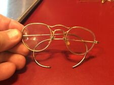 Vintage Rare 1/4 12k Gf Wire eye Glasses Spectacles -2.5X the scrap gold