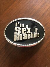 I'm A Sex Machine Funny XXX Joke With Bottle Opener Unisex Men's Belt Buckle