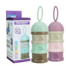 Pink Baby Milk Powder Dispenser Container Storage Formula Feeding Box 7944