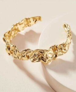 Amber Sceats Emery Cuff Bracelet & Bag NWT Rachel Zoe Gold plated Curateur New