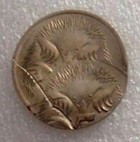 Australia 1975 5 Cent Error RARE DOUBLE STRIKE TWIN ECHIDNA UNC