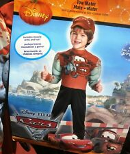 BOYS DISNEY  TOW MATER HALLOWEEN MUSCLE COSTUME+ HAT~NEW~CARS SIZE SMALL 4,5,6