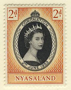 NYASALAND 1953 CORONATION  MNH