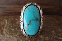 Navajo Indian Jewelry Sterling Silver Turquoise Ring Size 5 - Tsosie