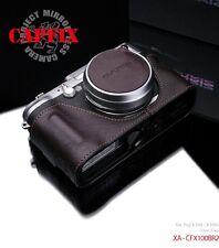 Gariz Leather Lens CapfixXA-CFX100BR2 Brown FUJIFILM X100 X100S LEICA X1 X2