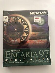 Microsoft Encarta 97 World Atlas Big Box Pc SEALED