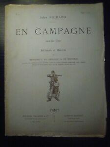 """Jules Richard, """"En Campagne"""" Tableaux ED. DETAILLE 2e série. N°2. Fin XIXe s."""