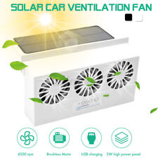 Rechargeable Solar 3 Fan Auto Car Window Windshield Air Outlet Ventilator Cooler