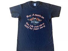 Vintage 80's Harley Davidson West Babylon New York 3D Emblem T-Shirt S