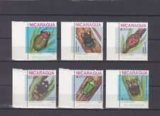 TIMBRE STAMP 6 NICARAGUA Y&T#1250-55 FAUNE INSECTE NEUF**/MNH-MINT 1986 ~A78