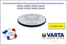 Button Cells 3V lithium Varta, CR2032/2025/20161220/1620/1616/2430/2450