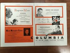 Maria Callas / David Oistrakh violin - Columbia Emi Records Advertisement 1954