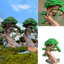 1xFairy Dollhouse Tree House Garden Miniature Figurine Bonsai Plant Resin Decor