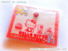 🍪 SANRIO Hello Kitty VINTAGE 2001 PVC wallet for SHEETS Porta-Fogliettini JAPAN