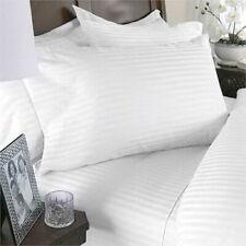 Linea Roma 3 Pc Duvet Cover set Queen White Stripe Pinstripe + 2 pillowcases