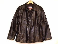Wilsons insulated rare brown leather jacket / women's L to XL / great / b63