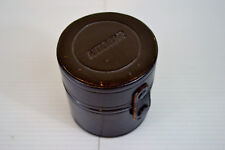 Vintage Nikon Nikkor Nippon Kogaku Tokyo Leather Camera Lens Case 72mm x 70mm dp