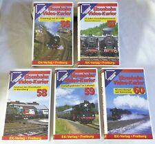 """VHS ferrocarril video-mensajero - 5 gastos"""" 56-60"""" - contenido ver fotos-Top-en su embalaje original"""