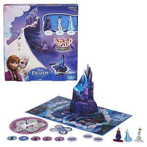 Licensed Hasbro Disney Frozen Pop Up Magic Board Game - Anna Elsa Olaf Figures
