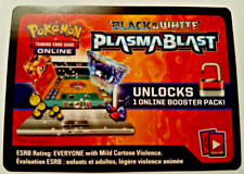 Pokemon Black & White Card PLASMA BLAST  ONLINE CODE
