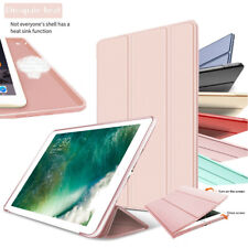 For Apple iPad Screen Protector Leather Magnetic Silicone TPU Smart Case Cover
