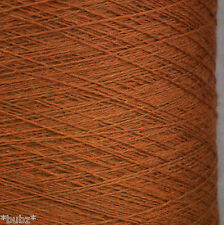 ITALIANO PURO MERINO WOOL 2 / 30V Cinnamon Brown laceweight filato 1 2 PLY LANA GATTO