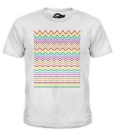 Derecho a Zig Zag Infantil Camiseta Top Regalo Estampado Colorido