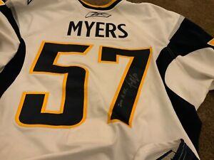 Buffalo Sabres Game Worn Jersey 2009-10 Tyler Myers Signed Calder Trophy Canucks