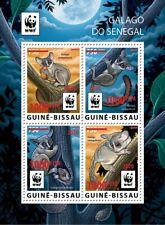 More details for guinea-bissau wwf stamps 2020 mnh senegal galago bushbabies red ovpt 4v m/s
