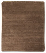 Nepal Teppich 143 x 125 cm Grau Einfarbig Handgeknüpft Schurwolle N900