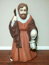 "Vintage Nativity Shepherd 38"" Lighted Blow Mold Christmas Decor by Santa's Best"