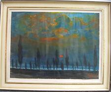 ::Albert Herzog1895 Raeren-1965 Koblenz, Abendstimmung mit Sonnenuntergang LF