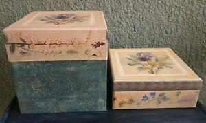Set Of 2 Bob's Boxes(Iris Bouquet, 2001), Jewelry Box & Decorative Box