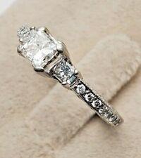 TACORI BRAND PLATINUM .50 Princess Solitaire 1 TCW Genuine Diamond Promise Ring