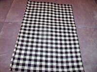 "NEW Black & Cream CHECK VALANCE Curtain 14"" X 40"" FARMHOUSE Lodge Decor GINGHAM"