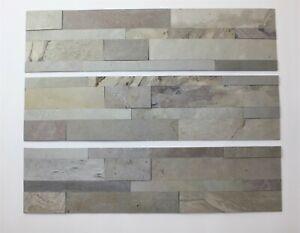 1 Muster 3D Schieferfurnier Wandverkleidung Fliese Küchenspiegel Bad 49€/m²