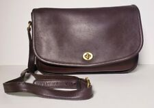 COACH Vintage Brown Leather City Flap Shoulder Crossbody #9790