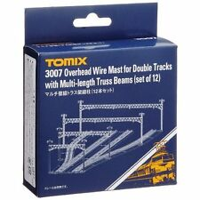 TOMIX 3007 Overhead Wire Mast for Double Tracks with Multi-length Truss Beams.