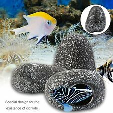 Fish Tank Pond Decorative Cichlid Stone Cave Shrimp Breeding Tank Ornament BL