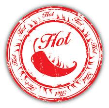 """Hot Chilli Pepper Grunge Stamp Food Car Bumper Sticker Decal 5"""" x 5"""""""
