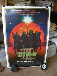 TEENAGE MUTANT NINJA TURTLES 3, orig rolled DS 1-sht / movie poster ( Cowabunga)
