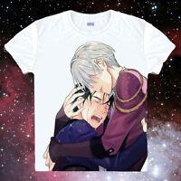 Anime YURI!!! on ICE Katsuki Yuri Unisex Cosplay Short Sleeve T-Shirt Tops #02