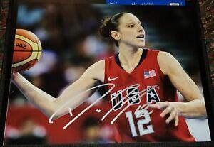 DIANA TAURASI signed auto 11x14 photo PHOENIX MERCURY USA OLYMPICS ESPN BODY A