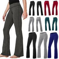 NEW YOGA Fitness Pants Flare Leg Long Women Athletic Workout Gym Party Wear M863