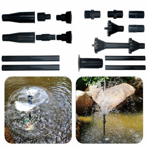 Fountain Pump Nozzle Set 8pcs For Pond Submersible Pool Water Spray Heads Tools