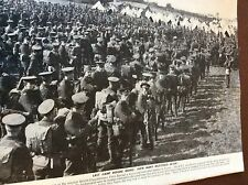 m8-1 ephemera 1938 ww1 picture b e f 1914 take the parade ground