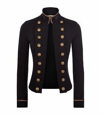 $198 Denim&Supply Ralph Lauren Naval Cropped Military Officer Jacket-Women-M